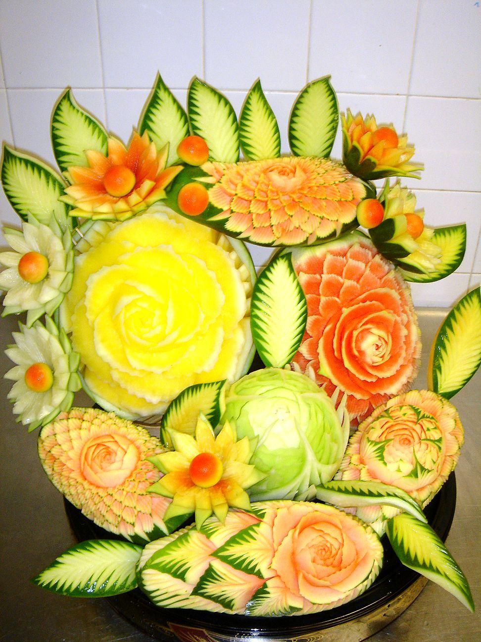 Поделки из овощей и фруктов своими руками фото мастер класс